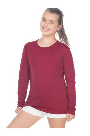 Youth Crew Neck Long Sleeve Top
