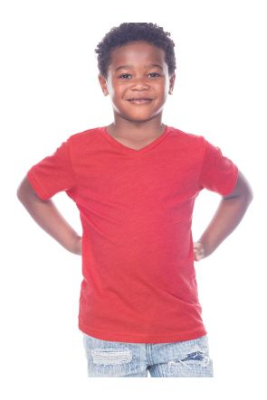 Toddlers V Neck Short Sleeve