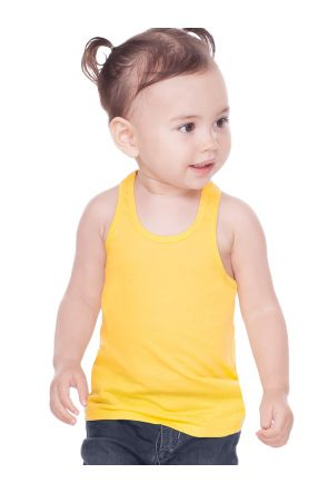 Unisex Infants Sheer Jersey Racer Back Tank