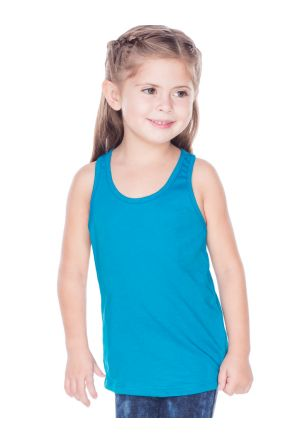 Little Girls 3-6X Sheer Jersey Racer Back Tank