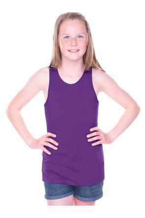 Big Girls 7-16  Sheer Jersey Racer Back Tank