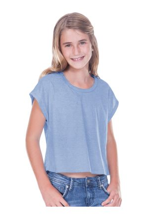 Big Girls 7-16 Jersey Boxy Crop Tee