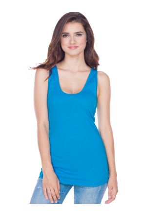 Juniors 2XL Sheer Jersey Scoop Neck Tank