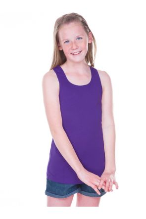 Girls 7-16 Sheer Jersey Scoop Neck Tank