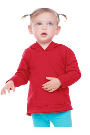 Infants French Terry Raw Edge Long Sleeve Hoodie w.Pouch