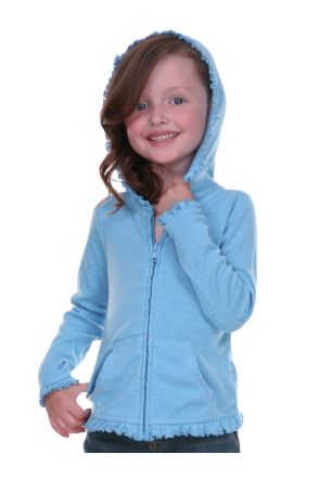Girls 3-6X Sunflower Long Sleeve Zip Hoodie