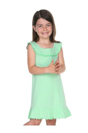 Girls 3-6X Ruffle Collar Tank Dress