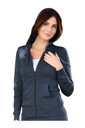 Women Long Sleeve Zip Hoodie With Pouch