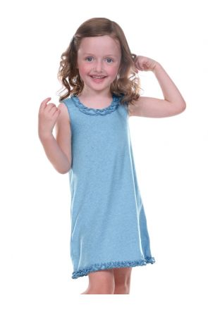 Girls 3-6X Lettuce Edge Ruffles Sleeveless Dress