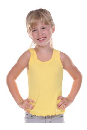Girls 3-6X Scalloped Beater Tank