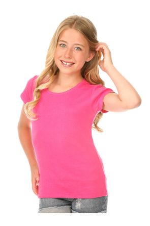 Girls 7-16 Scalloped Scoop Neck Top
