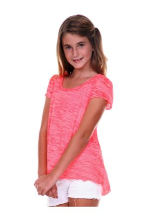 Girls 7-16 Burnout High Low Flutter Sleeve Top