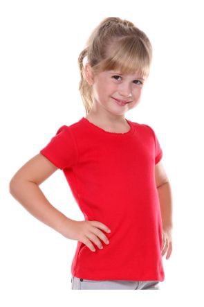 Girls 3-6X Scalloped Scoop Neck Top