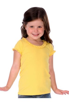 Girls 3-6X Sunflower Short Sleeve Top