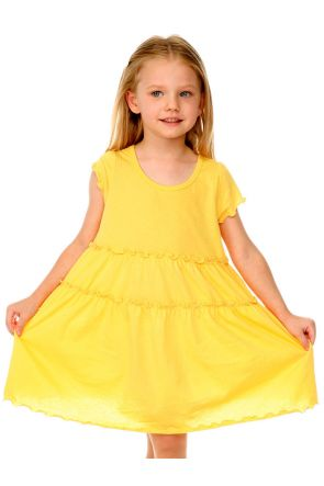 Girls 3-6X Tiered Lettuce Edge Dress