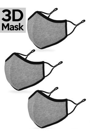 Unisex Adult 3-ply 3D Reversible Breathable Fabric Face Mask